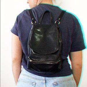 Vintage Bogner Mini Leather Backpack